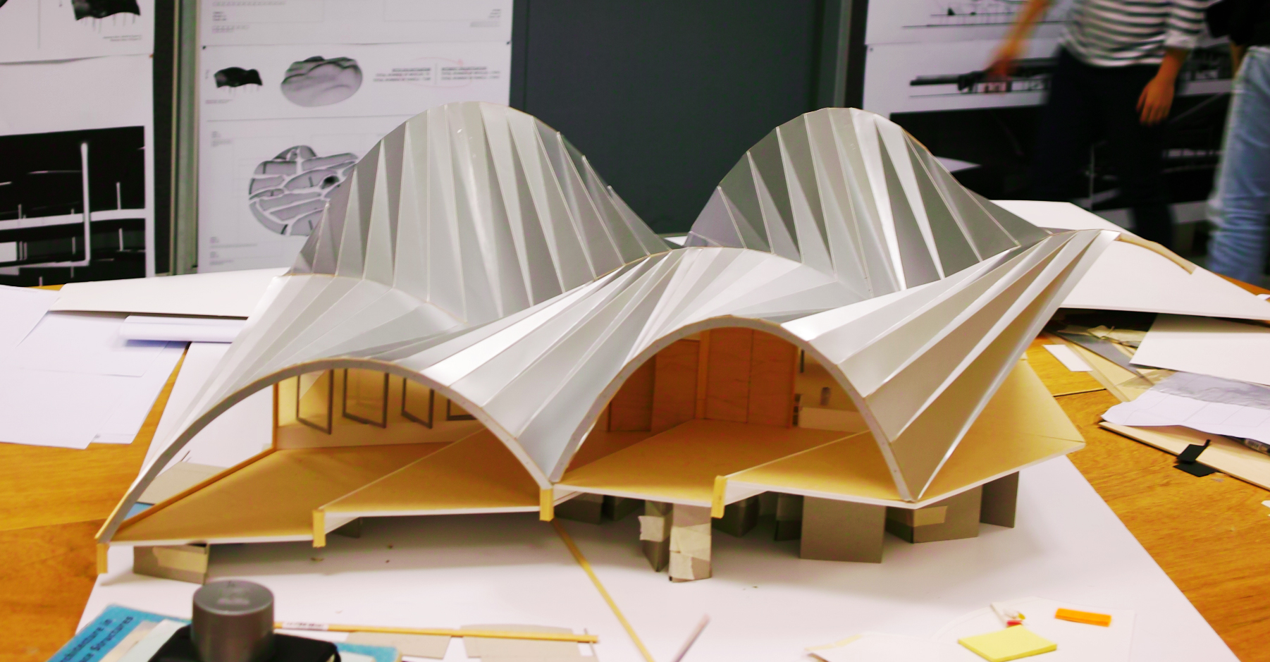 folded shell structure by liane ee