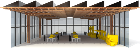 Section Perspective of Digital Fabrication Factory